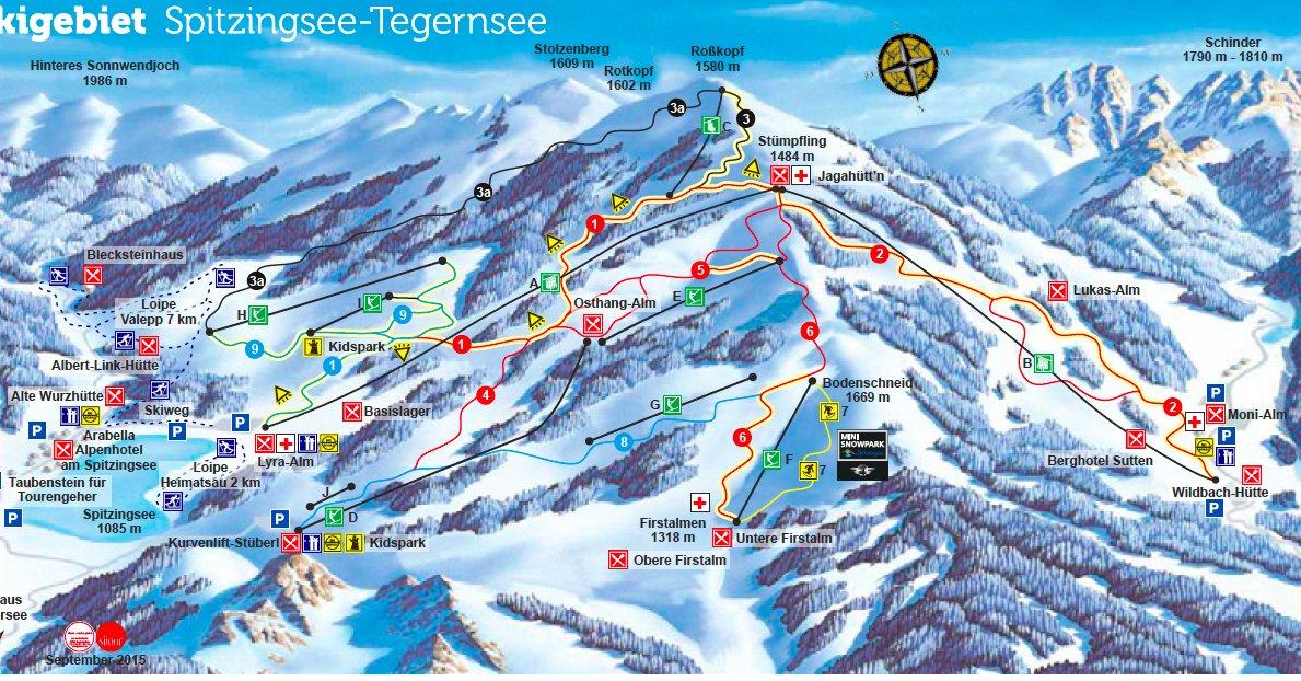 Pistenplan Spitzingsee 2015 - © Alpenbahnen Spitzingsee