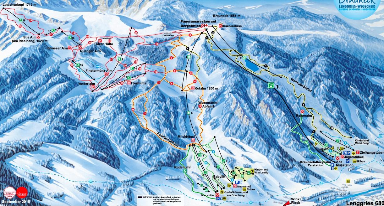 Skigebiet Brauneck 2015/2016 © Brauneck- und Wallbergbahnen GmbH