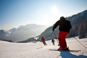Spitzingsee - Skifahrer