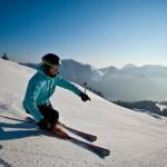 Skiabfahrt Richtung Moni Alm. Die Moni Alm liegt auf 1000 m Höhe im Tegernseer Tal - © Alpenbahnen Spitzingsee Fotograf: Hansi Heckmair
