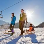 Rodeln am Skigebiet Hocheck - © Chiemsee Alpenland Tourismus