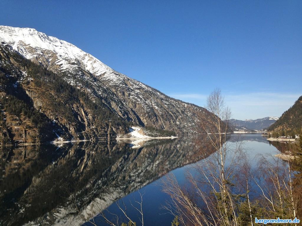 Achensee in Tirol, Blick Richtung Norden, Karwendel