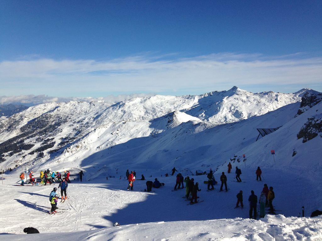 Am Pfaffenbühel (2431 m) im (Teil)Skigebiet Hochfügen