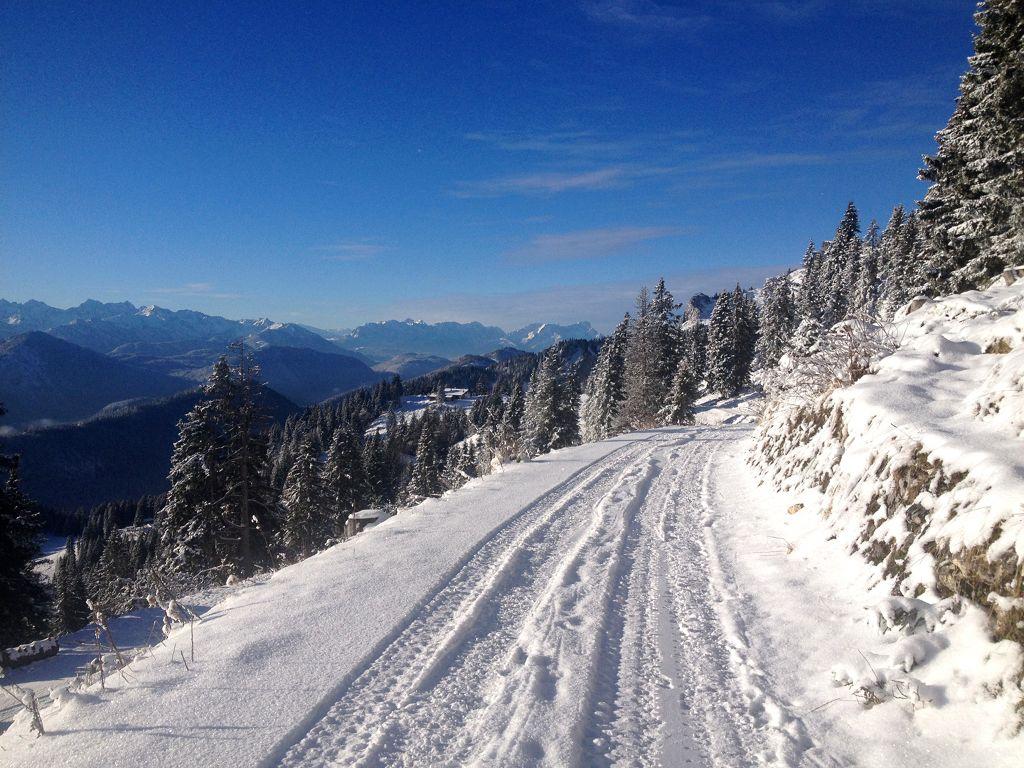 Winterwanderweg am Brauneck