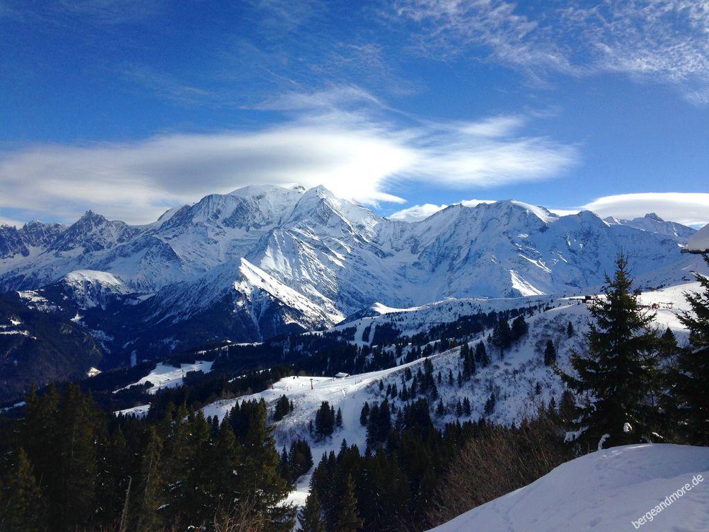 Megeve Mont d Arbois, Blick auf Mont Blanc