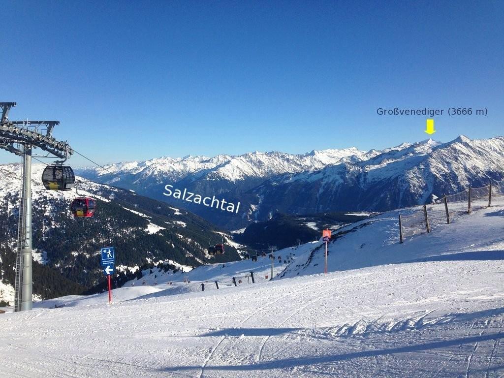 Blick von der Königsleitenspitze Richtung Süden - Zillertal Arena