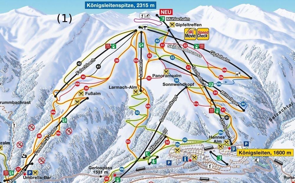 Skigebiet Koenigsleiten