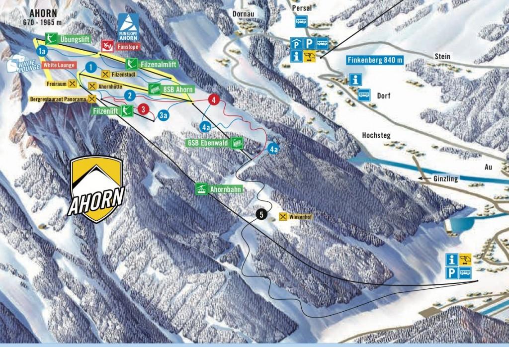 Pistenplan - © Mayrhofner Bergbahnen