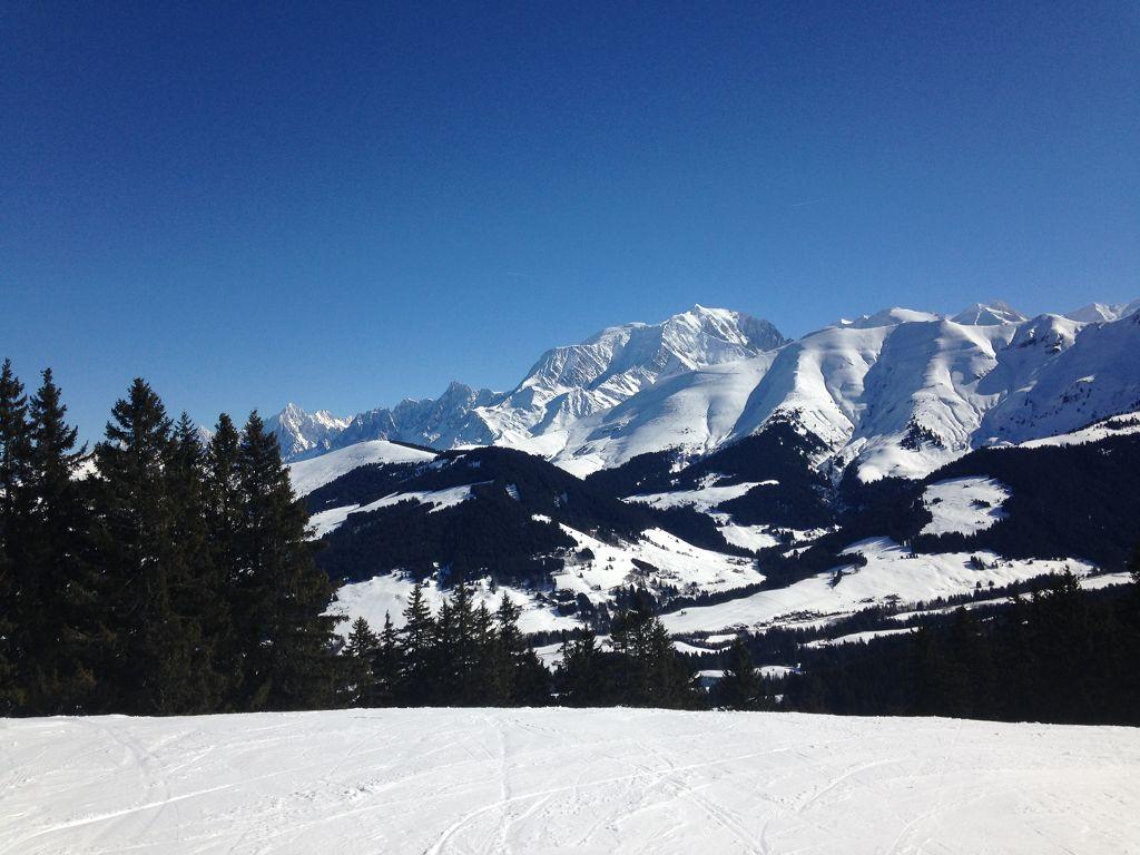 Mont Blanc Blick von 1871 Meter Höhe (L´Alpette)