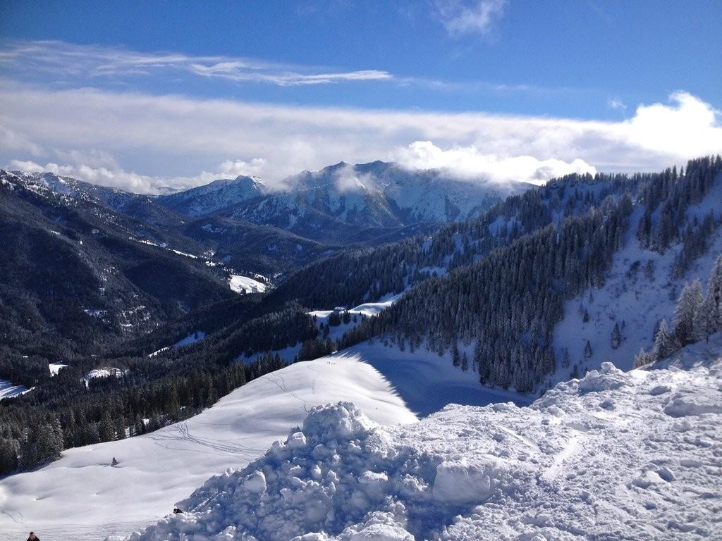 Schwarze Piste Skigebiet Spitzingsee