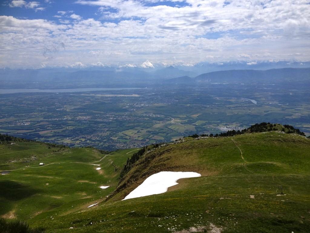Blick auf Genfer See und MontBlanc