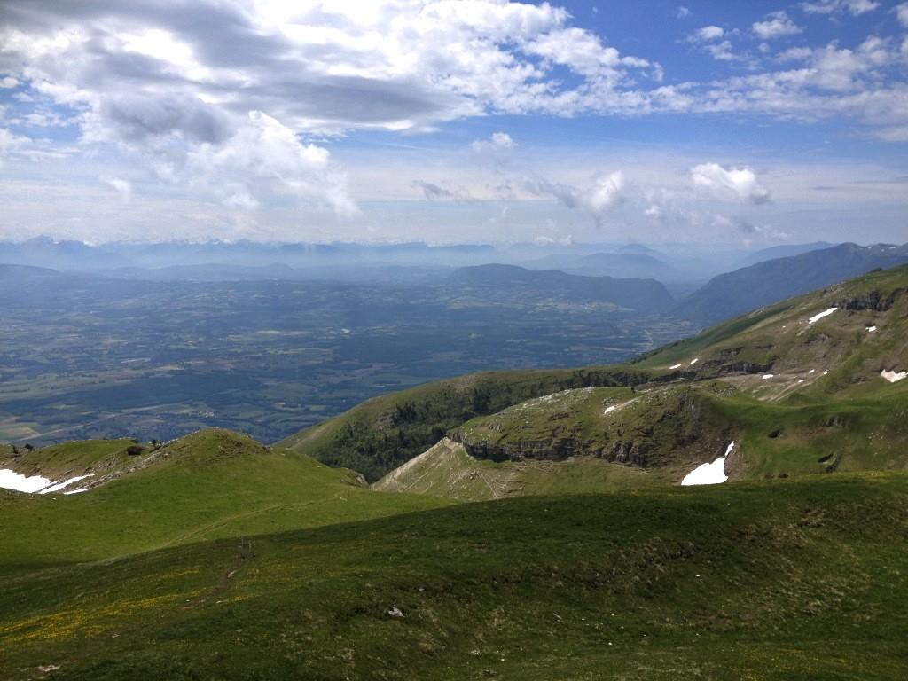 Blick vom Gipel Reculet im französischen Jura