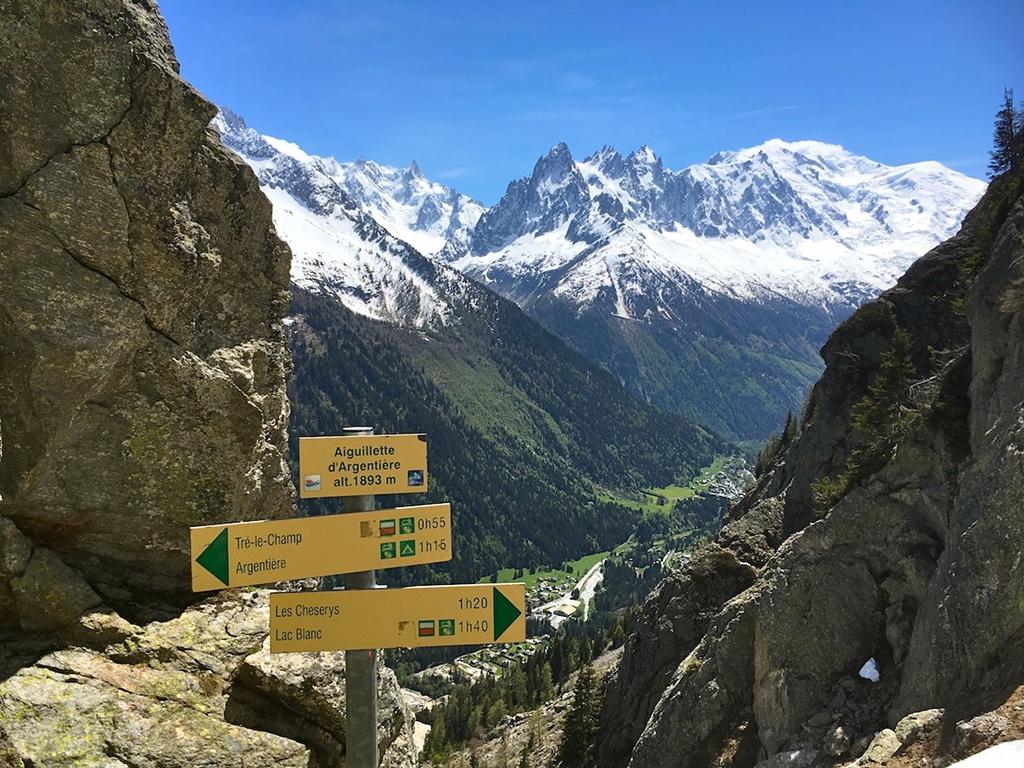 Aiguillette d'Argentière (1893m) mit Mont-Blanc Massiv