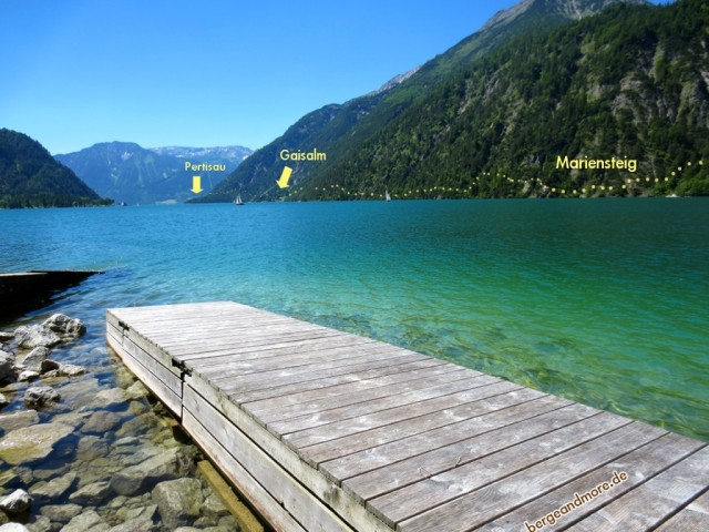 Gaisalmsteig bei Achenkirch am Achensee in Tirol