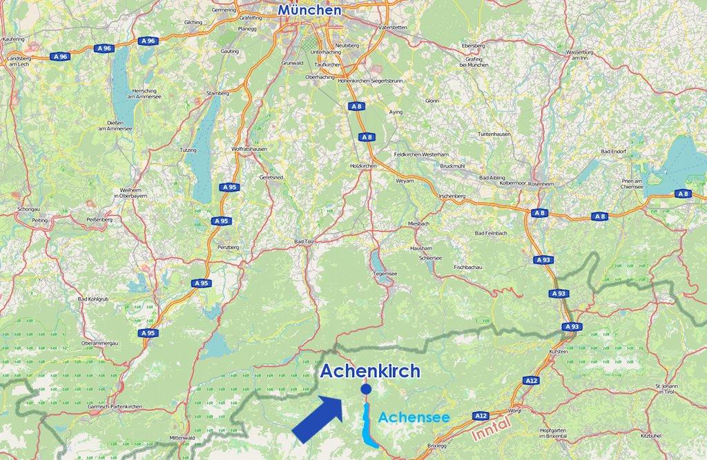 Karte Achenkirch