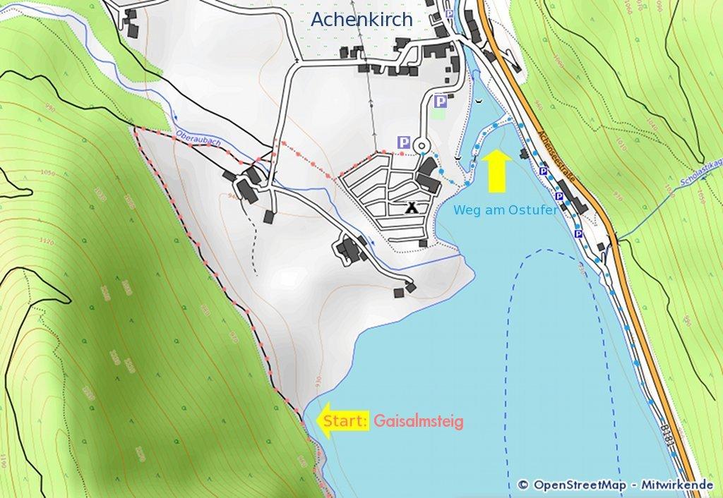 Karte Wanderwege